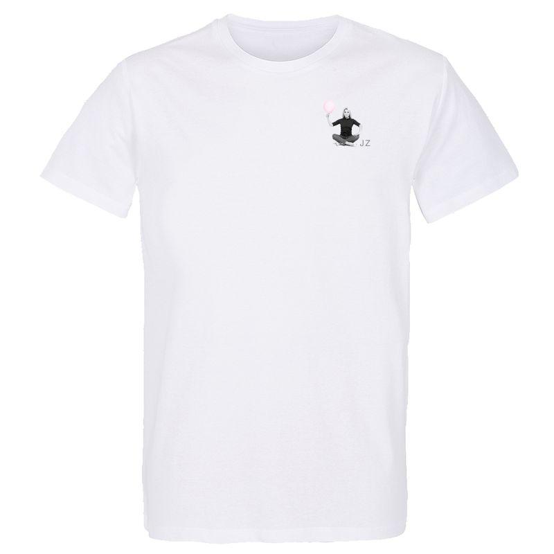 T-shirt BLANC Julie Zenatti Visuel ballon en Griffe Cœur poitrine