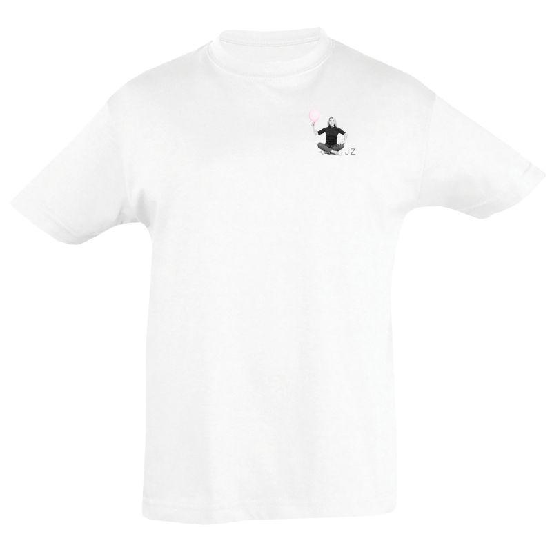 T-shirt Enfant  BLANC Julie Zenatti Visuel ballon en Griffe Cœur poitrine