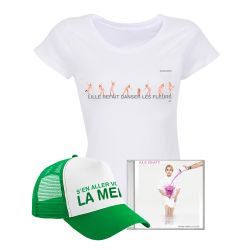 Pack T-shirt Femme BLANC LILLE + Casquette + CD / Taille XXL